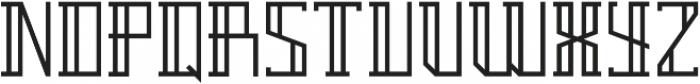 Breach Outline Second ttf (400) Font UPPERCASE
