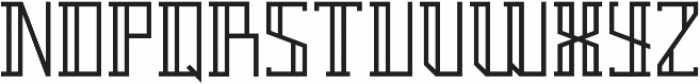 Breach Outline Second ttf (400) Font LOWERCASE
