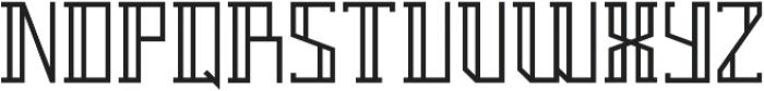 Breach Outline ttf (400) Font LOWERCASE