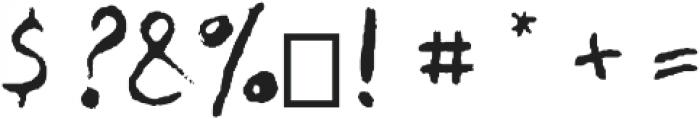BreadBury-font-Regular otf (400) Font OTHER CHARS