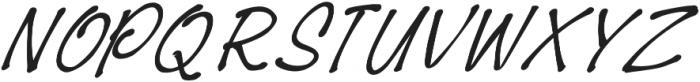 BreakUpLetter otf (400) Font UPPERCASE