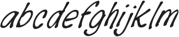 BreakUpLetter otf (400) Font LOWERCASE