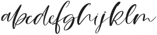 Breathe Me Script Regular otf (400) Font LOWERCASE
