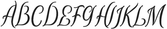 Breathes Regular otf (400) Font UPPERCASE