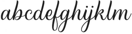 Breathes Regular otf (400) Font LOWERCASE