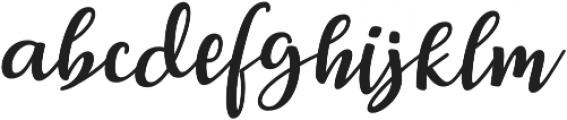Breetty otf (400) Font LOWERCASE