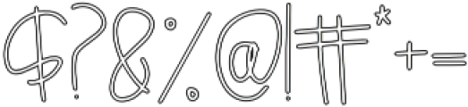 Breezily Outline otf (400) Font OTHER CHARS