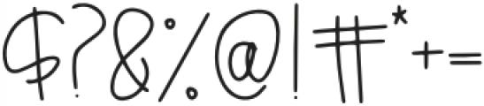 Breezily Regular otf (400) Font OTHER CHARS
