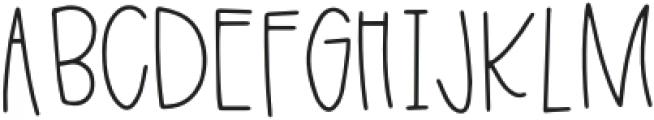 Breezily Regular otf (400) Font UPPERCASE