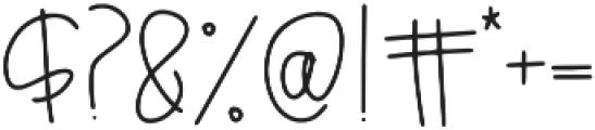 Breezily otf (400) Font OTHER CHARS