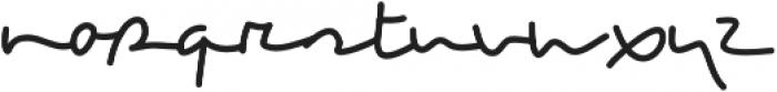 Breezy otf (400) Font LOWERCASE