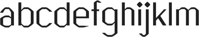 Breezy regular otf (400) Font LOWERCASE
