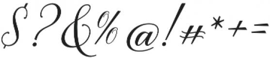 Brenda Script otf (400) Font OTHER CHARS