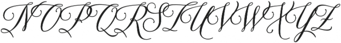 Brenda Script otf (400) Font UPPERCASE