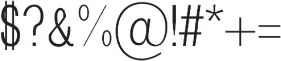 Brendon Light otf (300) Font OTHER CHARS