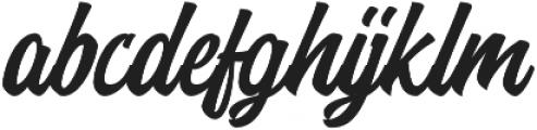 Brentha otf (400) Font LOWERCASE