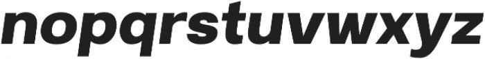 Breul Grotesk A Bold Italic otf (700) Font LOWERCASE