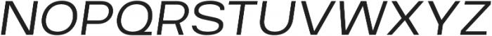 Breul Grotesk A ExtraLight Italic otf (200) Font UPPERCASE