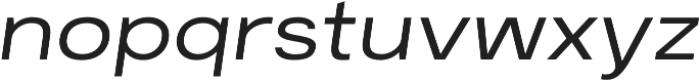 Breul Grotesk A ExtraLight Italic otf (200) Font LOWERCASE