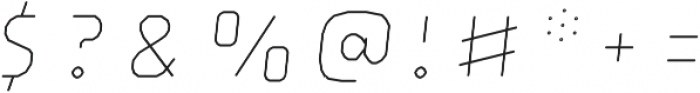 Brickton Lines Slanted otf (400) Font OTHER CHARS
