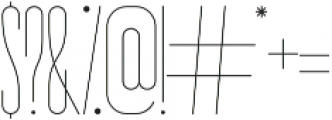 Bridal Short SemiLight otf (300) Font OTHER CHARS