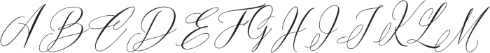 Bride Vibes otf (400) Font UPPERCASE