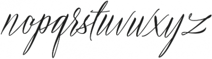 Bride Vibes otf (400) Font LOWERCASE
