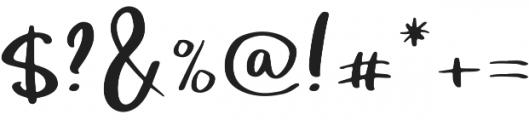 Bright Confetti otf (400) Font OTHER CHARS