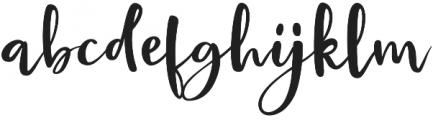 Bright Confetti otf (400) Font LOWERCASE