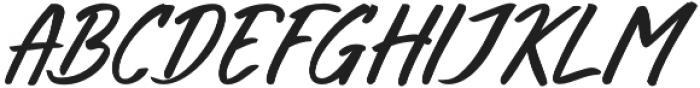 Bright Sunshine Cap Italic otf (400) Font UPPERCASE