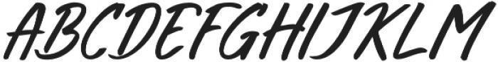 Bright Sunshine Cap Italic otf (400) Font LOWERCASE