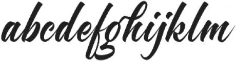 Brighten otf (400) Font LOWERCASE