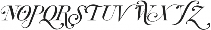 Brightooms-Italic otf (400) Font UPPERCASE