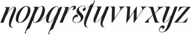 Brightooms-Italic otf (400) Font LOWERCASE