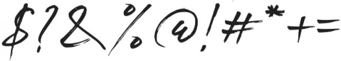 Brightside otf (400) Font OTHER CHARS
