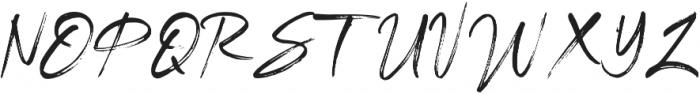 Brightside otf (400) Font UPPERCASE