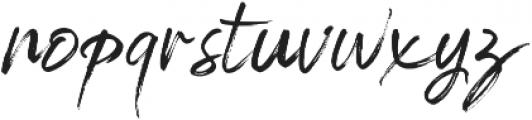 Brightside otf (400) Font LOWERCASE