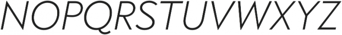 Brightwell Light Italic otf (300) Font UPPERCASE
