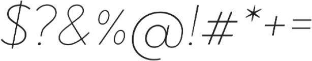 Brightwell Thin Italic otf (100) Font OTHER CHARS