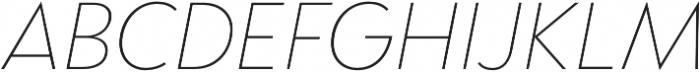 Brightwell Thin Italic otf (100) Font UPPERCASE