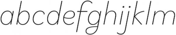 Brightwell Thin Italic otf (100) Font LOWERCASE