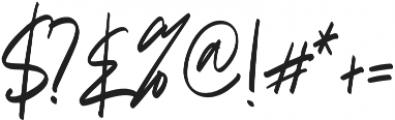 Briliantine Script otf (400) Font OTHER CHARS