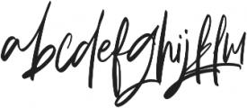 Briliantine Script otf (400) Font LOWERCASE