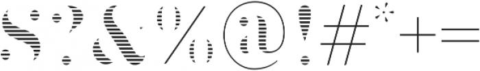 Brim Narrow Fat Lines otf (800) Font OTHER CHARS