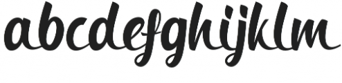 Bringin otf (400) Font LOWERCASE