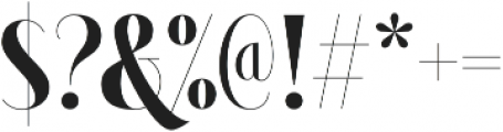 Brioche Black otf (900) Font OTHER CHARS