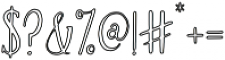 Brioche Outline otf (400) Font OTHER CHARS
