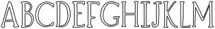 Brioche Outline otf (400) Font UPPERCASE