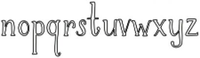 Brioche Outline otf (400) Font LOWERCASE