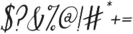 Brioche otf (400) Font OTHER CHARS